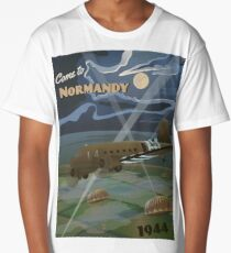 "Normandy 1944 ""D-Day Travel Poster"" Long T-Shirt"