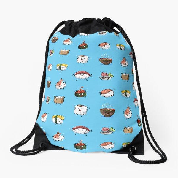 Sushi Pals (Blue) Drawstring Bag