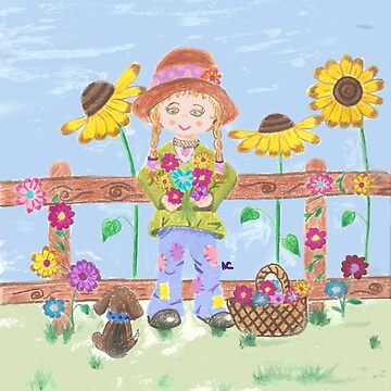 Hippie gardening girl by iCraftCafe