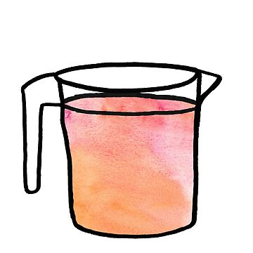 Liquor bucket - hand drawn watercolor stickers by itswillharris