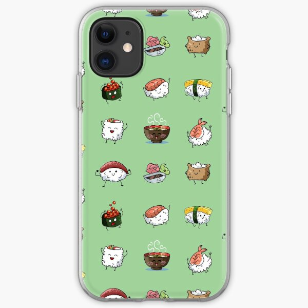 Sushi Pals (Green) iPhone Soft Case