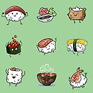Sushi Pals (Green) by Alex Heberling