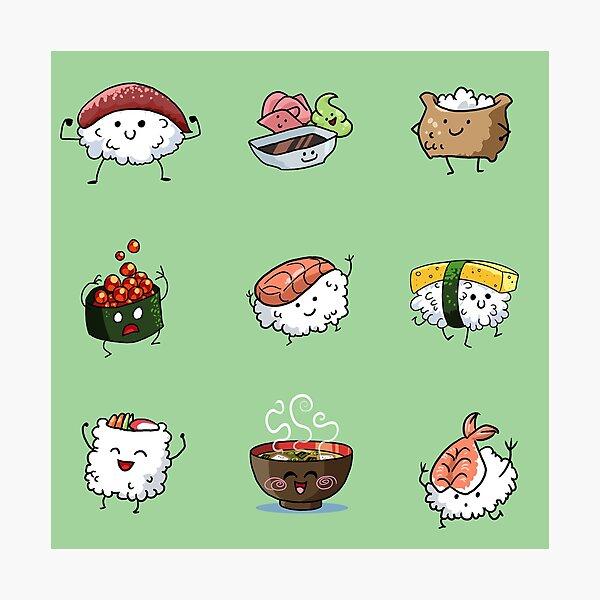 Sushi Pals (Green) Photographic Print