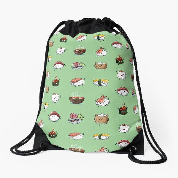 Sushi Pals (Green) Drawstring Bag
