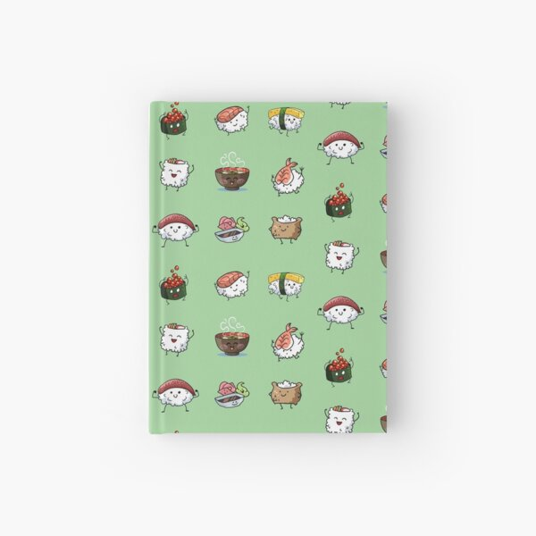Sushi Pals (Green) Hardcover Journal