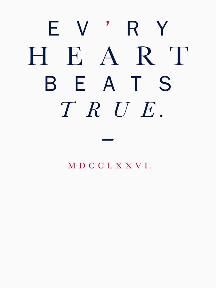 Text Heart Design, Evry Heart Beats True by EvryHeart