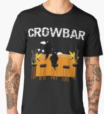 Bird Crow Bar Crows Drinking at a Bar Bird Pun   Copy Men's Premium T-Shirt