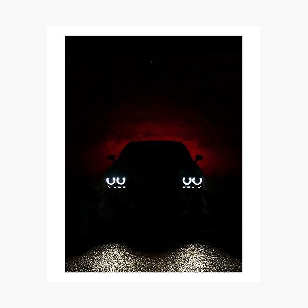 dodge challenger silhouette photographic print by badawi9 redbubble redbubble