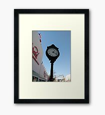 Clock, #clock, Brooklyn, #Brooklyn, Manhattan, #Manhattan, New York, #NewYork, NYC, #NYC, New York City, #NewYorkCity Framed Print