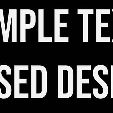 Simple Text Based Design by np-bestdesigns