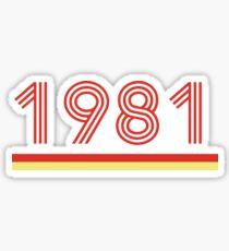 1981 Sticker