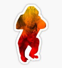 Gorillas-Funny Animals watercolor Tshirt Kids Gift Sticker