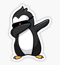 Cool Dabbing Penguin Graphic - Cute Funny Penguin Dab Design Sticker