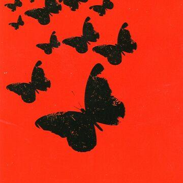 Butterflies on an orange background by ExpressingSelf