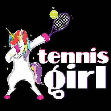 Tennis Girl Unicorn Dabbing Funny Dab Player T shirt Gift by kh123856
