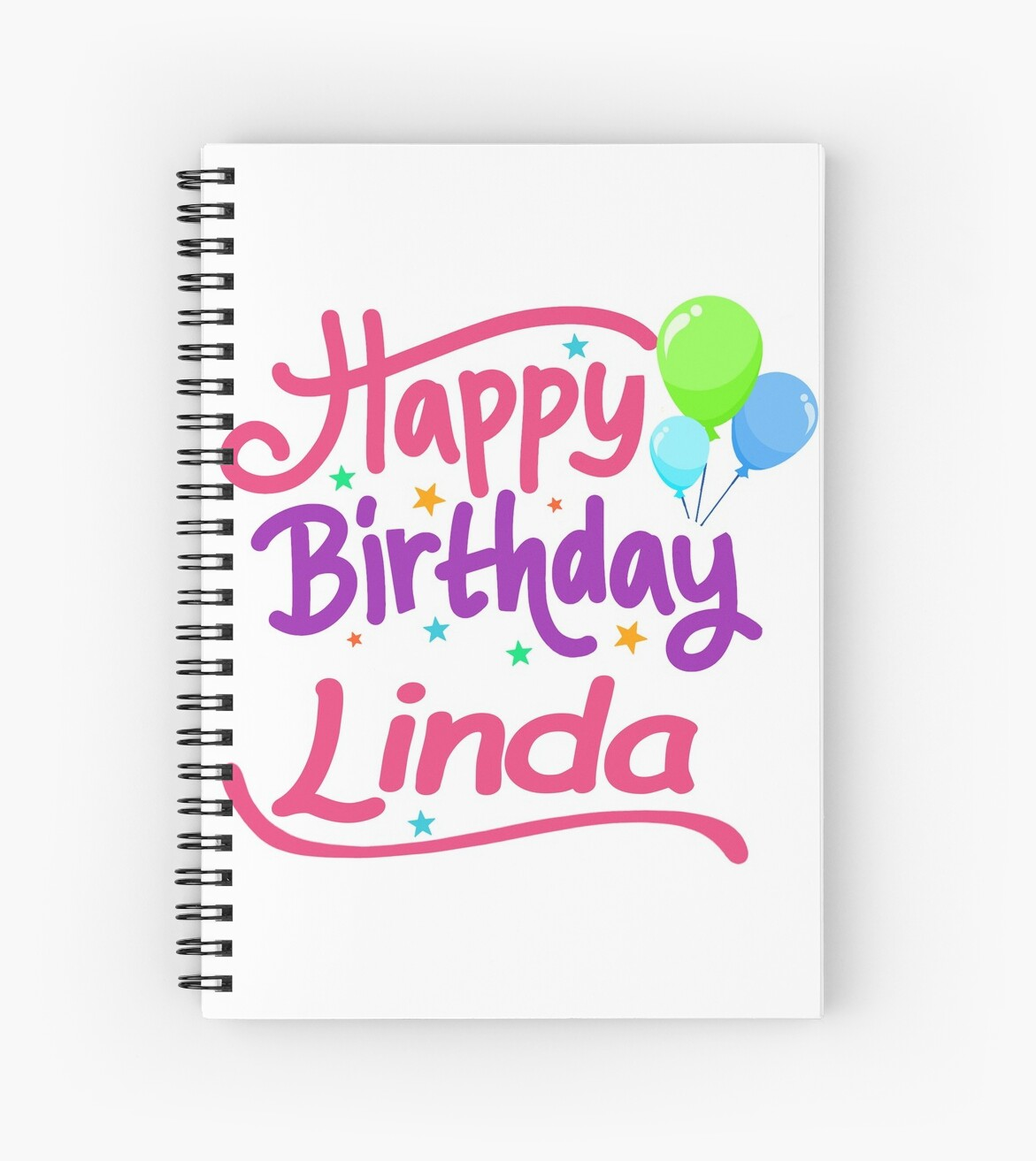 Happy Birthday Linda Spiral Notebooks By Pm Names Redbubble