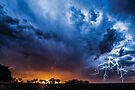 Lloma sunset storm w Lightning by Candice O'Neill
