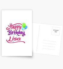 Happy Birthday Lisa Postcards