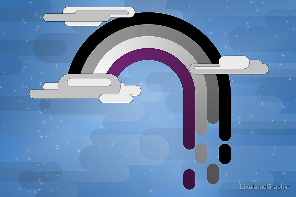 Minimalist Asexual Drip Rainbow by LiveLoudGraphic