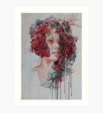 FLEUR woman in watercolour Art Print
