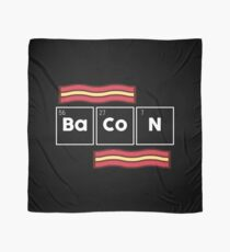 Funny Bacon Science Gift Periodic Table Scarf