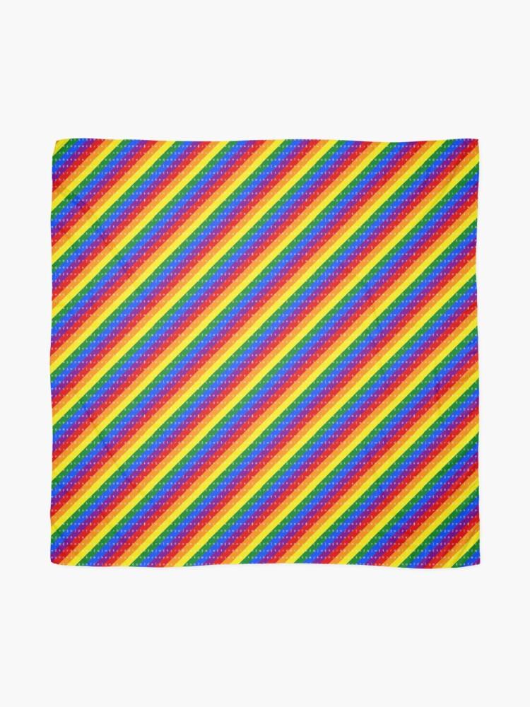 Alternate view of IPA scarf - rainbow Scarf