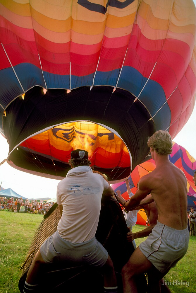 Filling The Hot Air Balloon by Jim Haley
