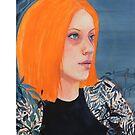 Orange & Indigo girl by Robyn Bradshaw