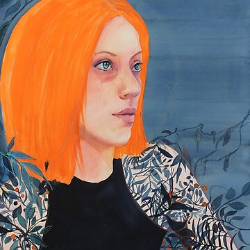 Orange & Indigo girl by robynbradshaw