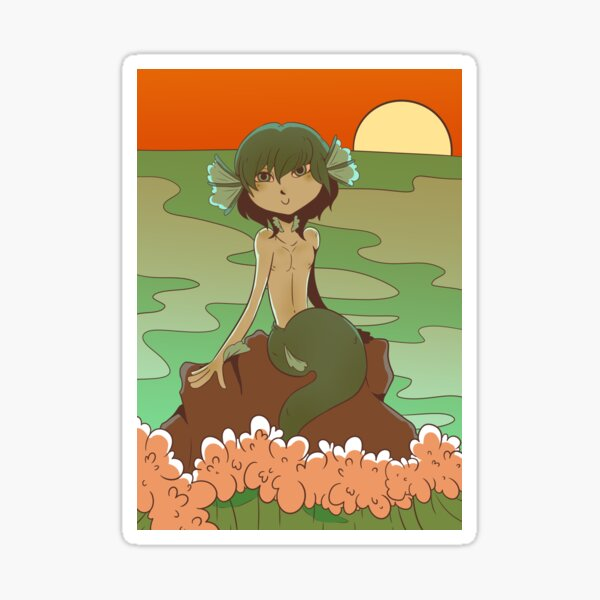 Cartoon merman Sticker