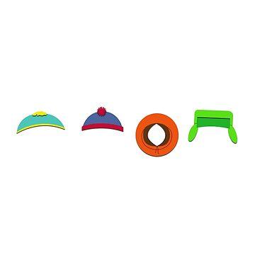 South Park Hats by Puranik