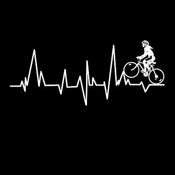 Cycling Team Heartbeat Biker Cycling Design by overstyle