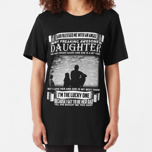 Funny Father of A Teenage Daughter Novelty Dating Humor T-Shirt