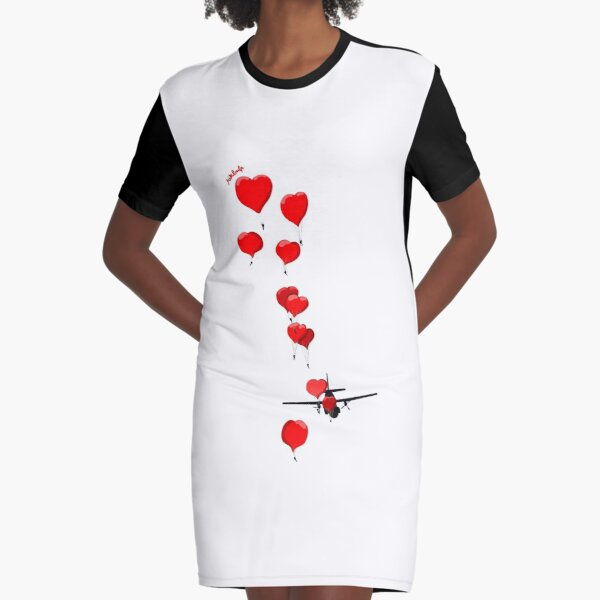 parachutes of love Graphic T-Shirt Dress