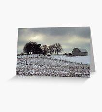 Barn in the Michigan Snow Greeting Card