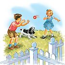 Dick and Jane pLay Ball by larry ruppert
