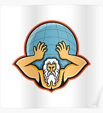 Atlas Holding Up World Mascot Poster