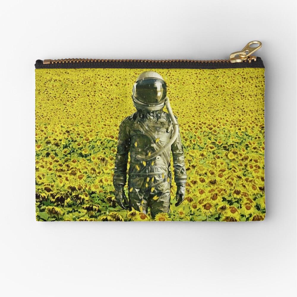 Stranded in the sunflower field Zipper Pouch