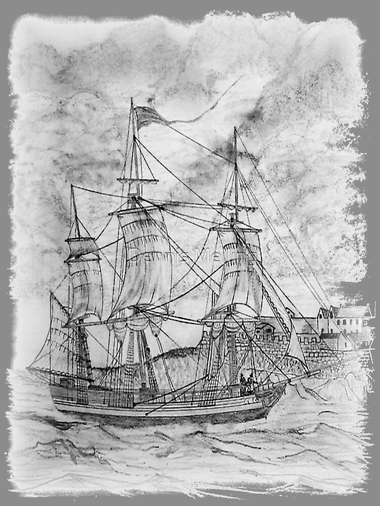 19th century Sailing Ship by Dennis Melling