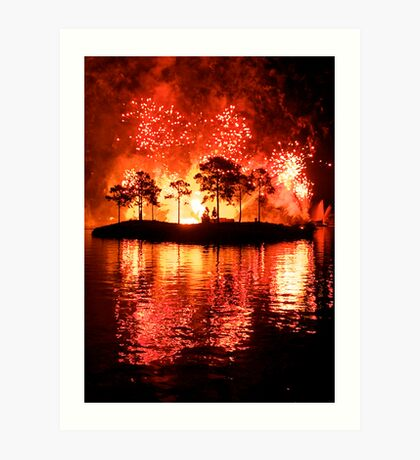 Works of Fire Art Print