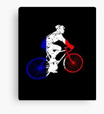 French Cyclist Canvas Print