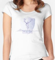 Isle of Skye Stag Women's Fitted Scoop T-Shirt