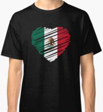 Mexican Heart Flag Classic T-Shirt