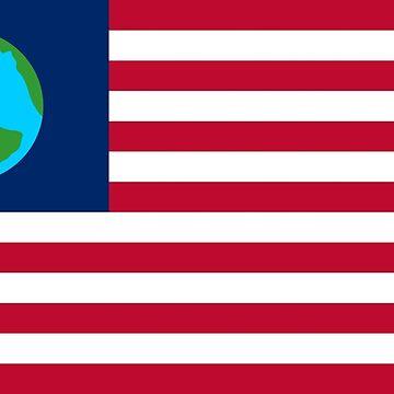 Earth flag by handcuffed