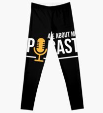 Ask Me About My Podcast for Podcasters Leggings