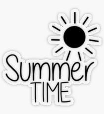 Summer Time Pegatina transparente