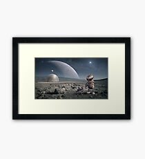 Science Fiction Robot Planet Moon Framed Print