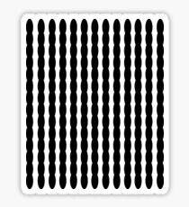 Black and White Ribbon Sticker