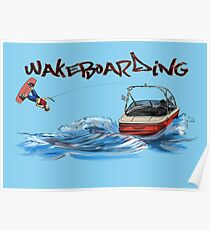 Wakeboarding Poster