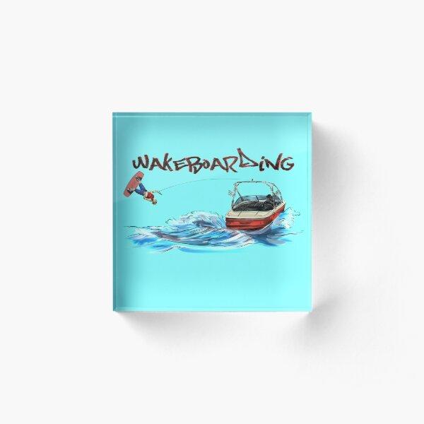 Wakeboarding Acrylic Block